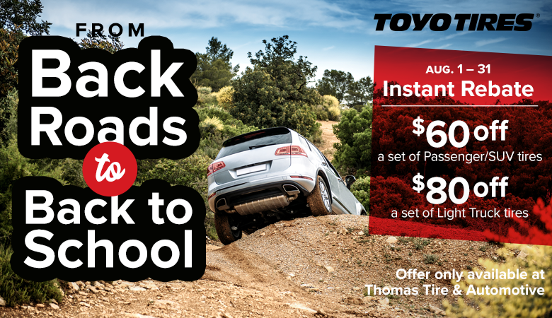 Save on Back to School with Toyo Tires