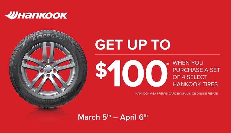 Hankook - Get Up To $100*