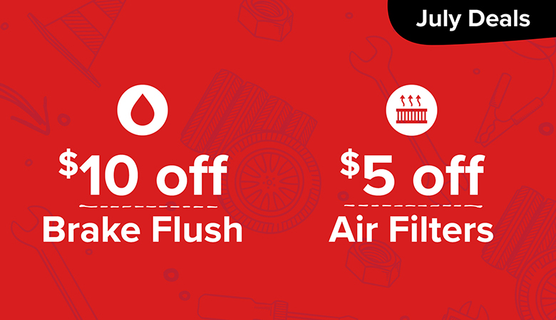 $10 Off Brake Flush and $5 Off Air Filters