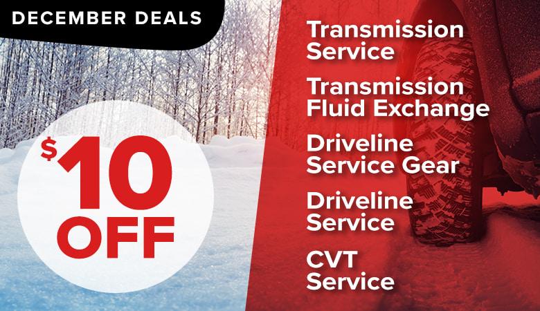 December Deal - $10 OFF